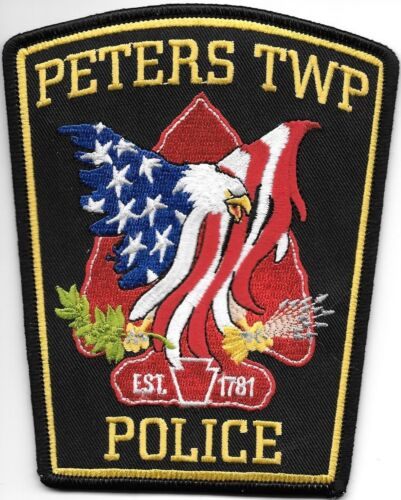 """Peters Township, Pennsylvania (4.25"""" x 5.25"""" size) shoulder police patch (fire)"""