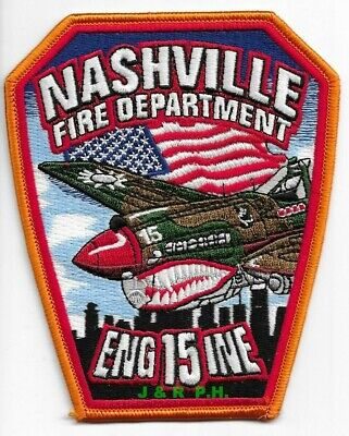 """*NEW*  Nashville Engine-15, Tennessee  (4"""" x 5"""" size) fire patch"""