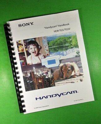 LASER PRINTED Sony HDR TG5 TG5V Video Camera 123 Page Owners Manual Guide