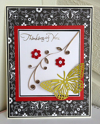 Handmade card - Big Size 21 * 14.8 cm / 8 * 5.5 inch / Thinking of you