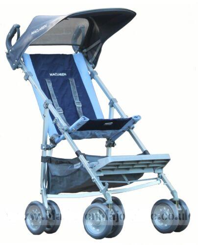 Maclaren Major Elite Transport Chair, Blue Navy With Sun Hood + Shopping Basket
