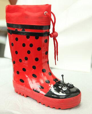 Marienkäfer Stiefel (Kindergummistiefel Gummistiefel gefüttert Marienkäfer Regenstiefel Kinderstiefel)