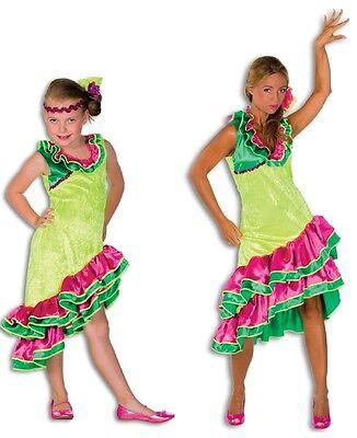 Flamenco Kleid Kostüme (Flamenco Kostüm Kleid Damen Karibikkleid Karibik Hawaii Spanierin Tanz Samba)