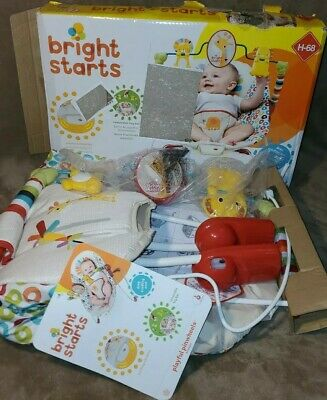 Bright Starts Home Playful Pinwheels Baby Infant Bouncer Vibrating Rocker Seat