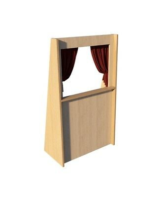 Puppet Theater Plans DIY Woodworking Free Standing Stage Kids Adults Play (Diy Puppet Theater)