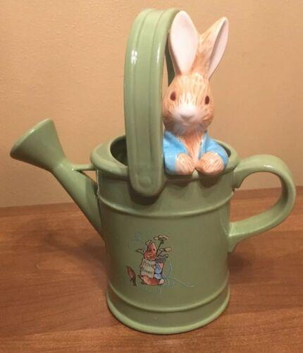 Vintage 1999 Beatrix Potter Peter Rabbit Ceramic Watering Can