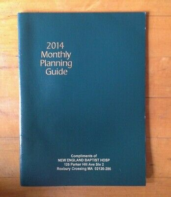 2014 Planner Monthly Layout Planning Guide Calendar 9.5 X 7 In