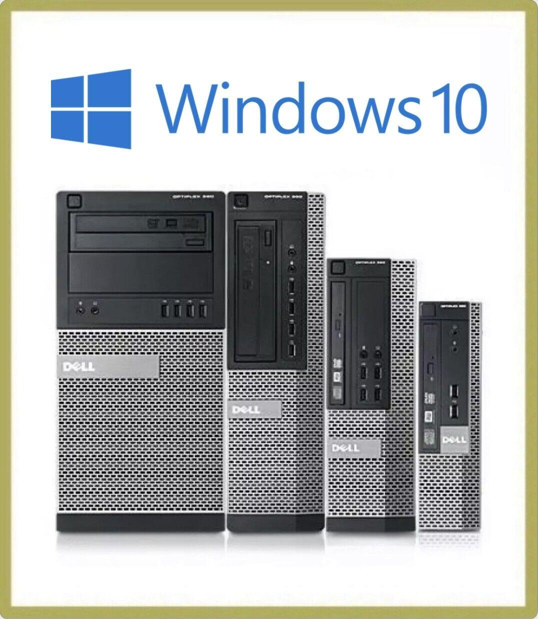 Computer Games - Fast Cheap Dell OptiPlex i3 i5 i7 MT Desktop SFF 8GB 500 Windows 10 PC Computer