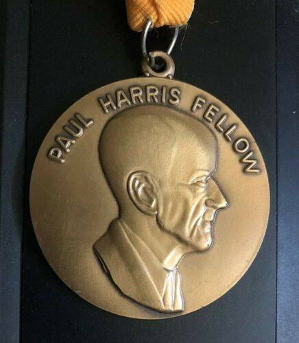 VTG Paul Harris Fellow Rotary International Award Medal Pendant Ribbon Necklace