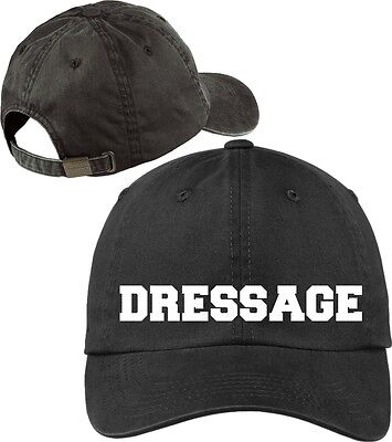 d1e9ffdd868eeb Dressage Baseball Cap Horse Lovers Hat with Soft Feel Lettering.