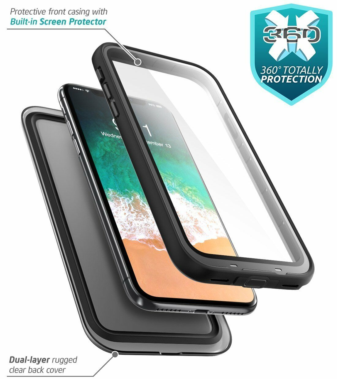 Iphone X Xs Case I Blason Aegis Waterproof Full Body Cover For Xr Spigen Protector Thin Fit 360 Free Glass Casing 3 Of 8 4