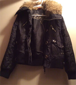 Women's winter jacket, black, size M