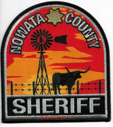 "Nowata County Sheriff, Oklahoma (4.5"" x 5"" size) shoulder police patch (fire)"