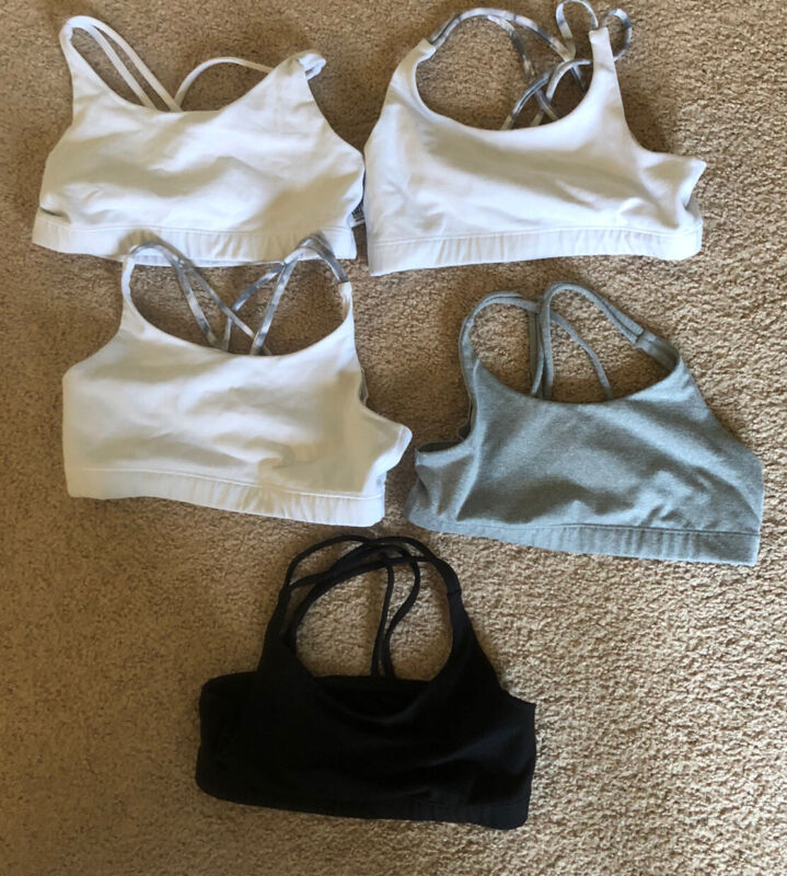 Mixed Lot Of 5 Athleta Kids Strappy Bras . Size 12 large- See Pic & Description