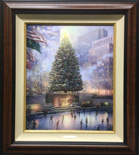 Thomas Kinkade Christmas In New York Limited Edition Canvas Framed 29/180 PP - $899.99