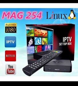 Iptv service and box mag322 and 3 days free trail