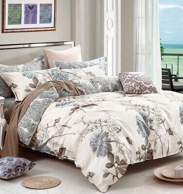 Cal King Size Daisy Print Cotton Bedding Set:1 Duvet Cover 2 Pillow Shams (Daisy Kids Bedding)