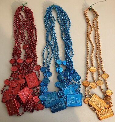 Mardi Gras Bead Necklace Total Rewards Casino Rio Showboat Harrahs Lot Of 15