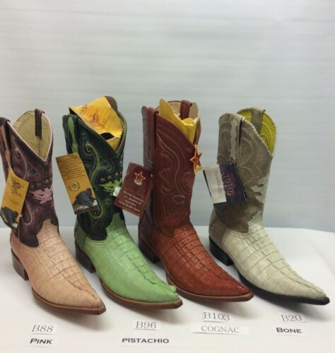 Mens, Genuine, Caiman, pointed, 3x, toe, Cowboy, Western, Boot, FreeShipping!
