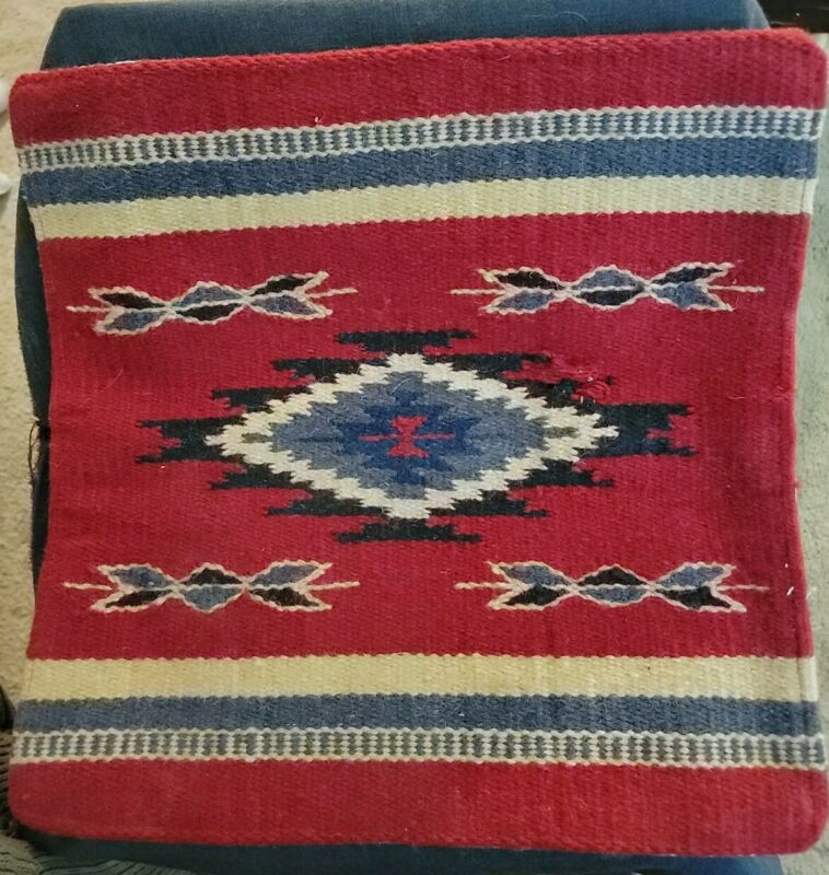 """Vintage Southwestern, Native American Woven Pillow Cover, Sham, 18"""" square"""