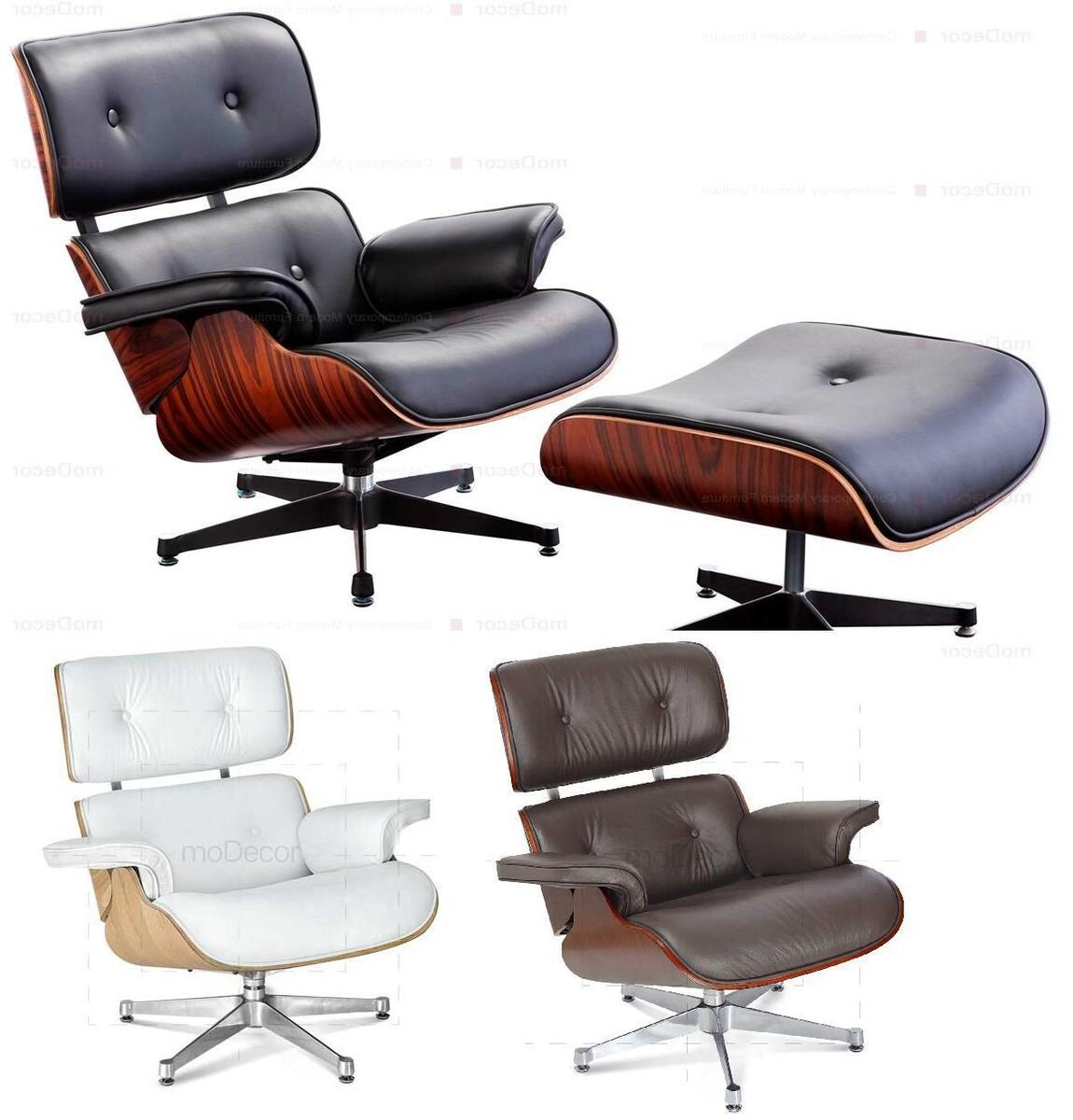 Surprising Charles Eames Lounge Chair And Ottoman Black White Brown Alphanode Cool Chair Designs And Ideas Alphanodeonline