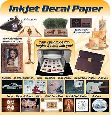 5 Blatt weiße Decal Folie für Tintenstrahldrucker ()