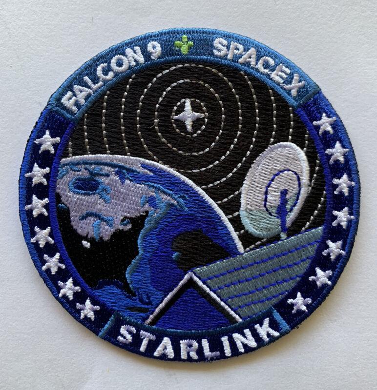 "Original SpaceX STARLINK Dish Mission Patch NASA Falcon 9 3.5"""