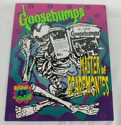 Vintage 90s Goosebumps Folder Master Of Screamonies Curly Happiness Express