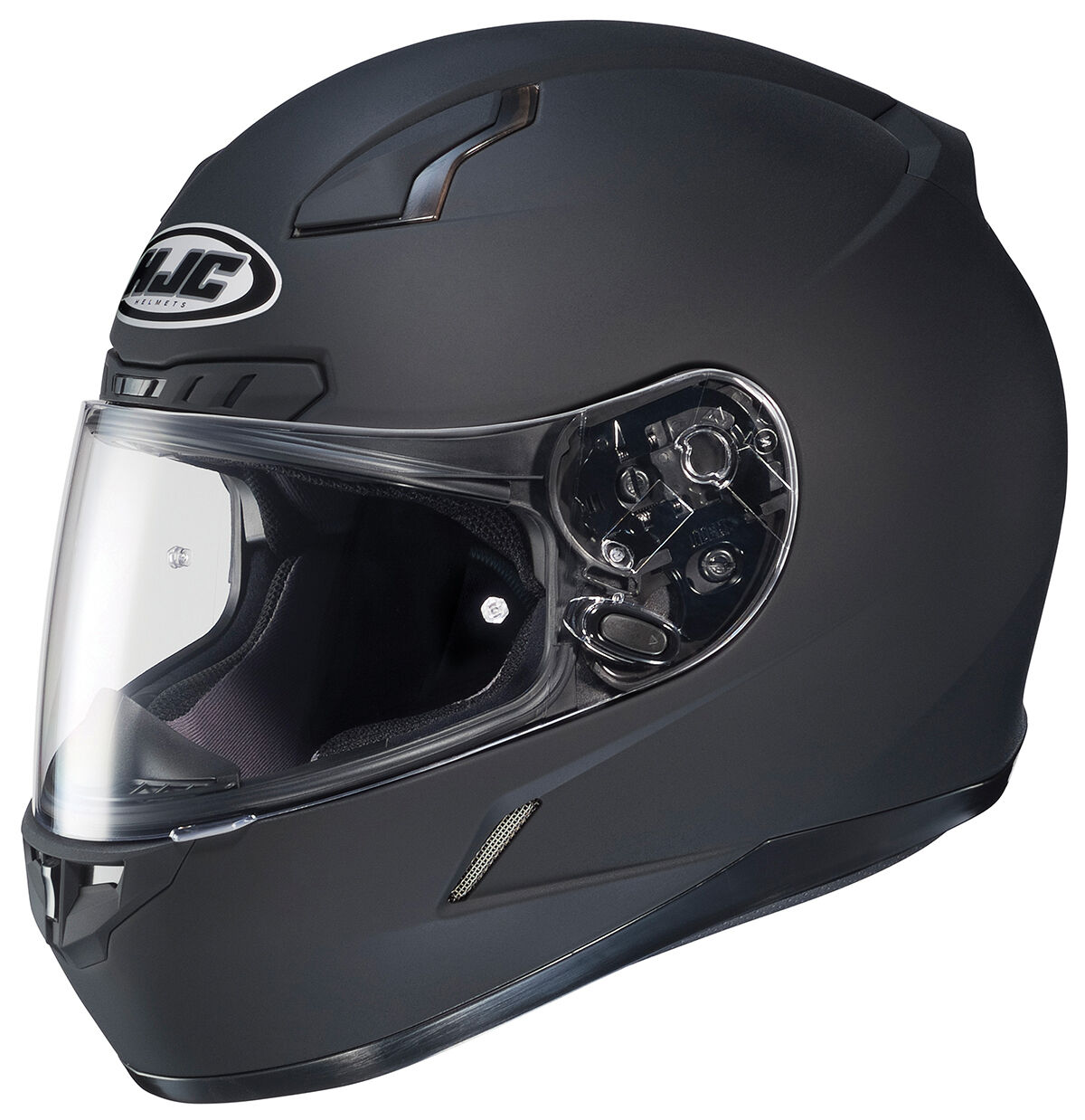 Photo HJC CL-17 W/ Dark Shield XS S M L XL 2X 3X 4XL 5XL Matte Black Motorcycle Helmet