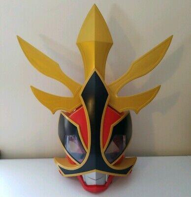 Power Rangers Samurai Shogun Helmet Mask Red Ranger Deluxe Talking Mask Costume - Red Ranger Deluxe Costume