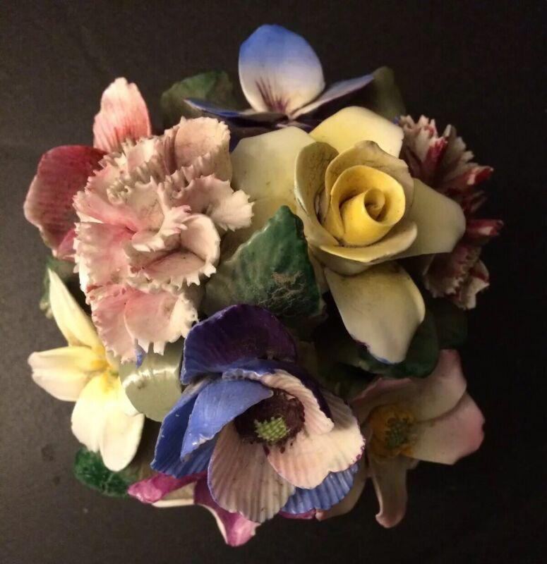 Crown Staffordshire England Fine Bone China Flowers Floral Basket