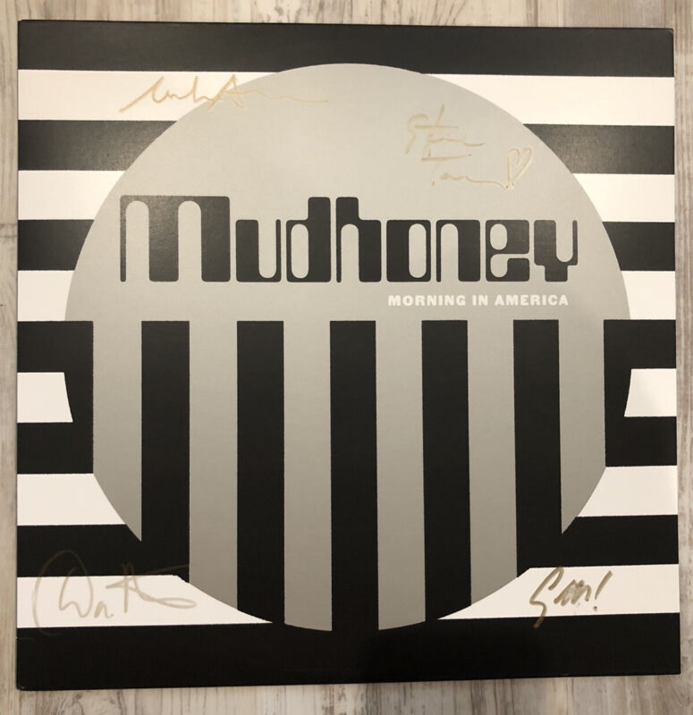 """MUDHONEY  Signed  """"Morning In America""""  Autographed Record Marble LP"""