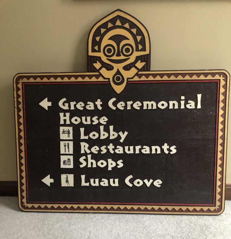 Disney World Polynesian Resort + Trader Sams Tiki Vintage Sign Original Prop!!!