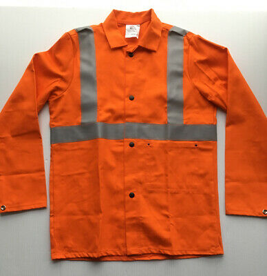 High Vis Jacket Shirt Contractor Construction Bicycle Orange 100 Cotton Small S