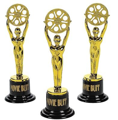 """Movie Buff Gold Trophies  (12 Pack) 6"""""""