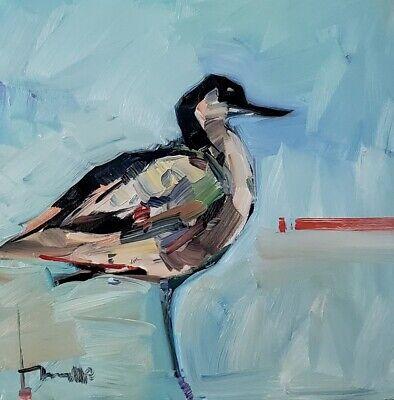 JOSE TRUJILLO Impressionism OIL PAINTING BIRD COLLECTIBLE FINE ART SIGNED COA