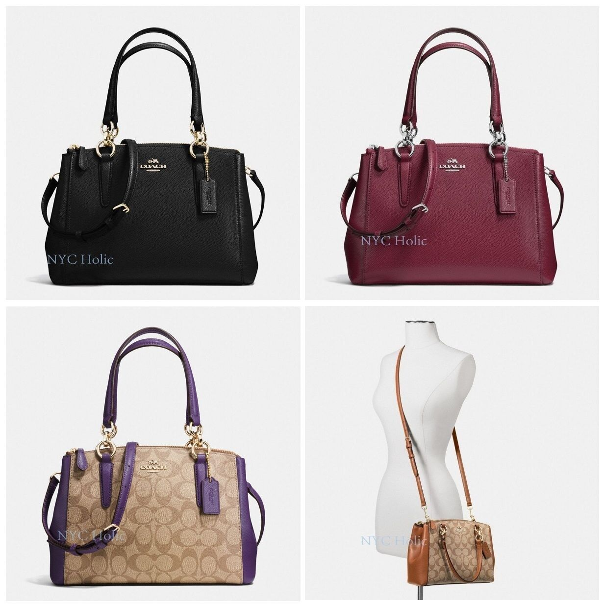 Coach - New Coach Mini Christie Carryall F36704 F36718 Signature With Gift Box