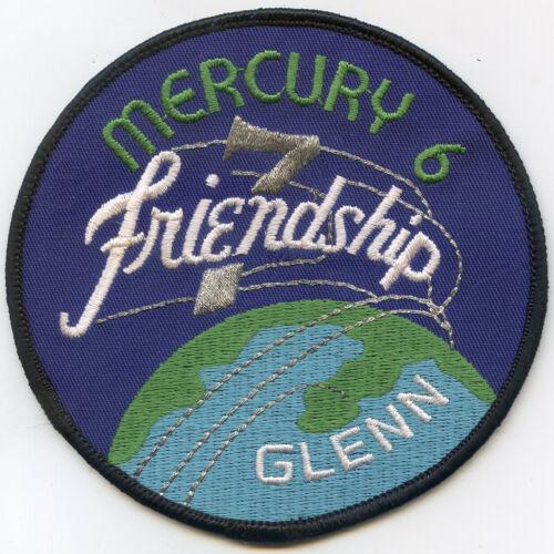 "John Glenn Mercury 6 Friendship Emblem Patch 2-1/2"" FREE Shipping from US"