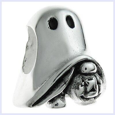 Sterling Silver Halloween Spirit Ghost Pumpkin Bead for European Charm - U2 Halloween