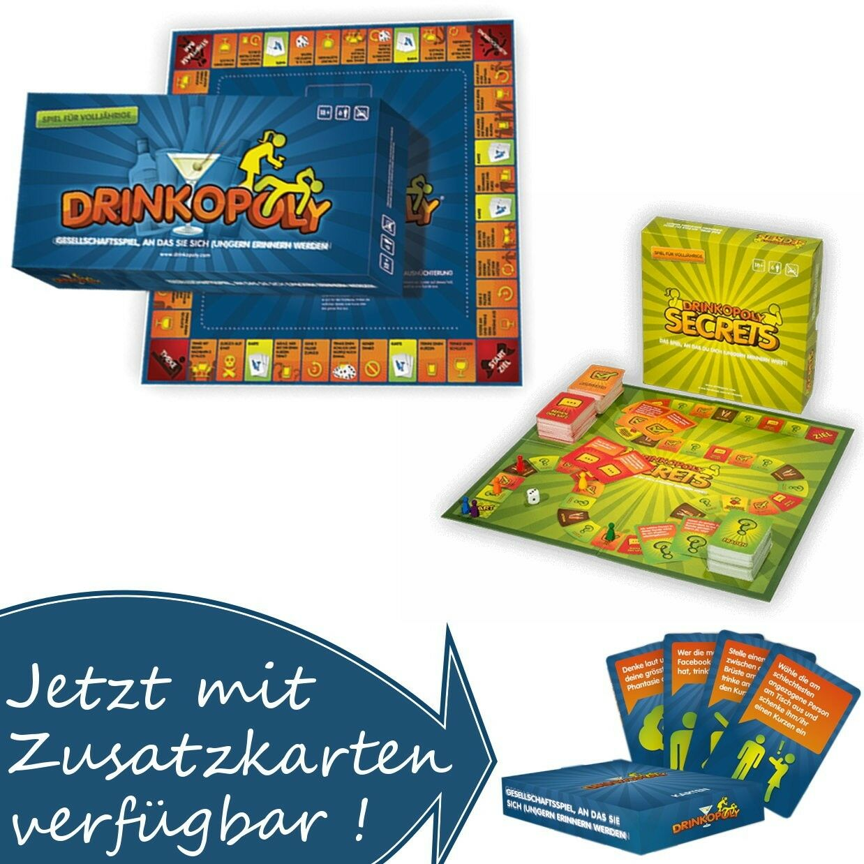 Drinkopoly Trinkspiel Saufspiel Partyspiel Party Spiel Gesellschaftsspiel Pong