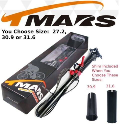 TMARS 419L 27.2 / 30.9 / 31.6 x 445mm Dropper Seatpost w/Remote MTB Bike