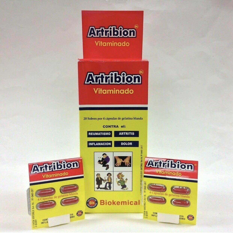 ARTRIBION VITAMINADO 1 DISPLAY 20 Packs x 4 Pills *** ORIGINAL***FOR 44.99