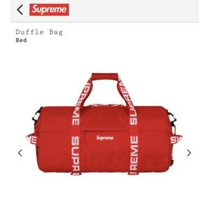 NEW RED SUPREME DUFFELBAG SS18