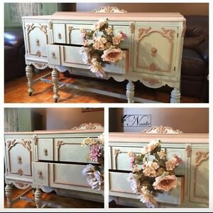 Refinish furniture  meuble  dresser commode table ...