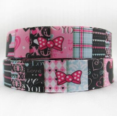 Minnie Mouse 1 Inch Grosgrain - Minnie Mouse Ribbon