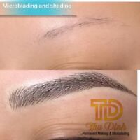 $150 for microblading permanent makeup eyebrows lips eyeliner..