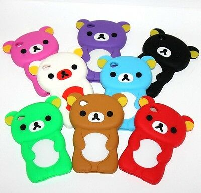 For iPod Touch 4th Generation - Soft Rubber Silicone Skin Case Cover Teddy - Case Cover 4 Ipod