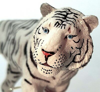White Tiger Figurine - High Quality Hand Painted African Bengal Figure