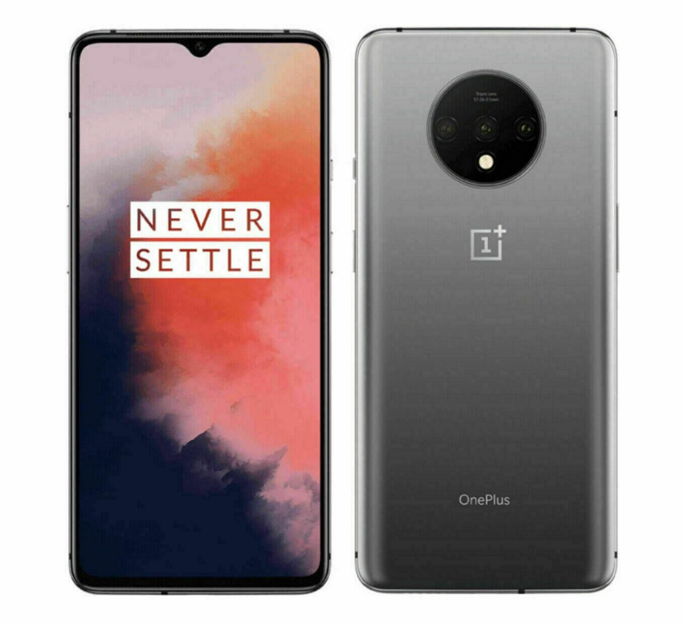 OnePlus 7T - 128GB - Frosted Silver 48MP, 128GB, 8GB Ram Unlocked OB