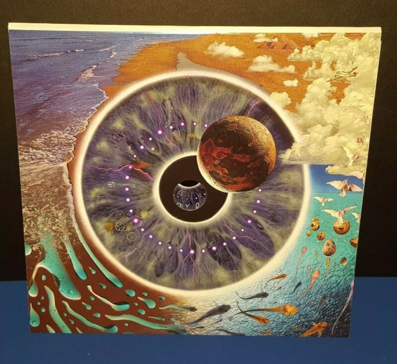 """PINK FLOYD PROMO ONLY """"PULSE"""" GREETING CARD W/ LIGHT UP BUTTON"""